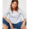 ZARA STRIPED TOP WITH LACE TRIMS