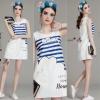 Lady Ribbon Online เสื้อผ้าออนไลน์ขายส่ง Normal Ally เสื้อผ้า,NA03220816 &#x1F389Normal Ally Present summer cloud print casual dress&#x1F389 (เดรส ,ซับในอย่างดีทั้งชุด)
