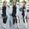 Lady Ribbon Online เสื้อผ้าออนไลน์ขายส่ง Normal Ally เสื้อผ้า NA05150816 &#x1F389Normal Ally Present elegance white bow dress maxi dress&#x1F389 (แม๊กซี่เดรส , มีซับใน)