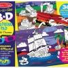 สมุดระบายสีเล่มใหญื 3D Coloring Book - Boy