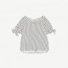 ZARA LINEN POLKA DOT TOP