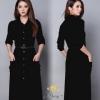 black dress collections ชุดเดรสคอตตอนโพลี่
