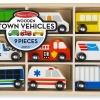รถของเล่น Wooden Town Vehicles Set 9 คัน