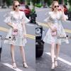 Lady Ribbon Online เสื้อผ้าออนไลน์ขายส่ง Normal Ally เสื้อผ้า NA13150816 &#x1F389Normal Ally Present flower print summer dress&#x1F389