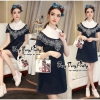 Lady Ribbon Online เสื้อผ้าออนไลน์ ขายส่ง VP06110716 Soft Denim Embroidered Shirt Dress