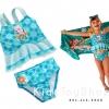 ชุดว่ายน้ำ 2 ชิ้น Elsa Deluxe Swimsuit for Girls[n]
