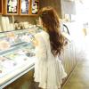 เดรสแฟชั่นเกาหลีแขนยาว สีขาว