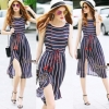 Lady Ribbon Online เสื้อผ้าออนไลน์ ขายส่ง normal ของแท้ NA12140716 &#x1F389Normal Ally Present new summer collection striped silk dres