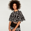 ZARA TOP WITH FLORAL EMBROIDERY