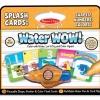 สมุดระบายแบบพกพา Melissa and Doug Splash Card Water Wow Reusable - ตัวเลข สี และรูปร่าง