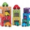ชุดบล๊อคต่อที่จอดรถ พร้อมรถไม้ Nesting & Sorting Garages & Cars