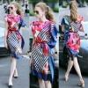 Lady Ribbon Online เสื้อผ้าออนไลน์ขายส่ง Normal Ally เสื้อผ้า NA10180816 &#x1F389Normal Ally Present Elegance Silp scarf dress&#x1F389