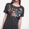 Stradivarius Embroidered T-shirt