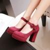 Preorder รองเท้าแฟชั่นส้นสูงสายรัดข้อเท้าหัวเข็มขัด