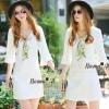 NA10010916 &#x1F389Normal Ally Present White boutique autumn classic dress&#x1F389 (เดรส , มีซับในอย่างดี ,ซิปข้าง)