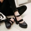 Preorder รองเท้าส้นสูงสายรัดข้อเท้าหัวเข็มขัด