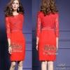 2Sister Made, Red Lovely Vintage Sparkling Dress