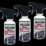 Qturf น้ำยาทำความสะอาดล้อแมกซ์และวงล้อ (Qturf max wheel cleaner for car) 450 มล. ชุด 3 ขวด