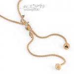 AO1904 - สร้อยทอง สร้อยคอทองคำ เครื่องประดับ high-grade new arrival women's sweater chain necklace