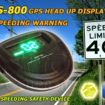 GS-800 GPS Head Up Speed Display With Speed Warning