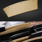 Connect ที่ใส่ของข้างเบาะรถยนต์ แบบหนัง ที่จัดระเบียบในรถ กล่องใส่ของเสียบช่องระหว่างเบาะในรถ Premium Leather Seat Pocket Catcher
