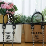 *Chanel canvas tote shopping bag *