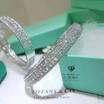 Diamond Bracelet กำไลเพชรฉลุ ง๊ามงามมาก งานเพชรCZแท้ฝังทั้งวง ลวดลายฉลุ