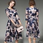 2Sister Blue Cuties Vintage Flora Sweet Dress