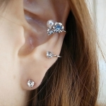 F485 - ต่างหูแฟชั่น ต่างหูหนีบ ต่างหูเกาหลี ตุ้มหูแฟชั่น ตุ้มหู ต่างหู เครื่องประดับ shiny new diamond beads earrings ear clip