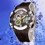 OHSEN – AD1309-1: Dual System Alarm / Chronograph Sports Watch