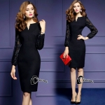 Viera Elegant Black Dress