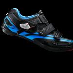 รองเท้าจักรยานเสือหมอบ Shimano R107 พื้นคาร์บอน สีดำ-น้ำเงิน