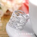 AX2497 - แหวนแฟชั่น,แหวน,แหวนเกาหลี,เครื่องประดับ Fashion line crossover ring