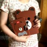 เคสซิลิโคนหมี Brown (เคส iPad mini 1/2/3)