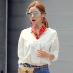 เสื้อแฟชั่นเกาหลีแขนยาวมีกระเป๋าด้านหน้า มี 2สี