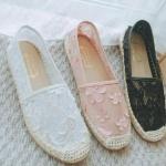 พร้อมส่ง รองเท้าลูกไม้ valentino รุ่นใหม่ล่าสุด พื้นยางขอบเย็บอย่างดี
