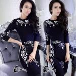 เสื้อผ้าแฟชั่นเกาหลีCliona Crystal Black Luxury Dress - Mini dress