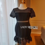 Lady Ribbon Chloe Ruffle Midi Dress