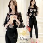 เสื้อ+กางเกงทรงเดฟ เสื้อผ้าแฟชั่นเกาหลีสวยๆ