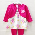**Baby Q** SM1571 Size 3/6, 6/9, 9/12m เสื้อผ้าเด็กขายส่ง ยกแพค 6 ชุด ครบไซส์