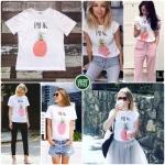เสื้อยืดสีชมพูสุดชิค ภายใต้แบรน Let's Remix Collection ใหม่ล่าสุด