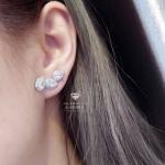 Diamond earring ต่างหู ทรงเพชรหยดน้ำเรียงตัวกันสวยงาม