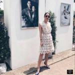 *Janesuda Lace Dress มินิเดรสลูกไม้สายเอี้ยมซับครีม งานแบรนด์ Janesuda *