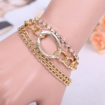 AW2390 - สร้อยข้อมือ,กำไลข้อมือ,กำไล,สร้อยข้อมือทอง,กำไลทอง,เครื่องประดับ personality hollow rope chain jewelry lock rough bracelet