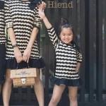 Ps mommy dressเดรสแขนสั้น เนื้อผ้าสวยมีลายในตัว ทรงกระโปรงบานใส่ง่ายๆ