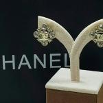 ต่างหู Chanel งานเพชร CZ แท้ เพชรคัดเกรด 6A อย่างดี