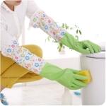 ถุงมือยางใส่ทำความสะอาด ปกป้องผิวจากสารเคมี กันน้ำ (รุ่นยาวพิเศษ)