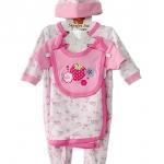 **MonOURS** WT497 Size 0/3, 3/6m เสื้อผ้าเด็กขายส่ง ชุดเซ็ต 5 ชิ้น ในแพคมี ชุดหมีแขนยาว, บอดี้สูทแขนสั้น, ผ้าห่ม, ผ้ากันเปื้อน และ หมวก ครบชุดค่ะ