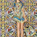 เสื้อระบายแต่งแขนพู่ สวย ตัวเสื้อพิมพ์ลาย สไตล์งาน D&G ลวดลายสวยเด่น ใครเห็นก็รู้จัก ทรงสวยเก๋ ดูดี มีสไตล์