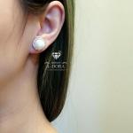 *Diamond&Pearl earring งานเพชรล้อมมุก 1 ชั้น*